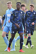 Leeds United forward Henri Kumwenda during the U18 Professional Development League match between Coventry City and Leeds United at Alan Higgins Centre, Coventry, United Kingdom on 13 April 2019.