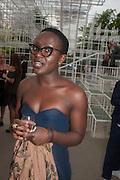 Lynette Yiadom-Boakye, The Serpentine Summer Party 2013 hosted by Julia Peyton-Jones and L'Wren Scott.  Pavion designed by Japanese architect Sou Fujimoto. Serpentine Gallery. 26 June 2013. ,