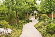 The entrance path at the Japanese Friendship Garden in Balboa Park, San Diego, California