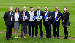 Bristol Rovers Manager Darrell Clarke and Chairman Steve Hamer pose with all the winners at the Sponsors Draw - Mandatory by-line: Robbie Stephenson/JMP - 15/04/2016 - FOOTBALL - The Memorial Ground - Bristol, England -  v  - Bristol Rovers Sponsor Draw