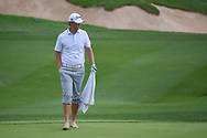 Matt Jones (AUS) prepares to mark his ball after hitting from the water on 18 during day 3 of the Valero Texas Open, at the TPC San Antonio Oaks Course, San Antonio, Texas, USA. 4/6/2019.<br /> Picture: Golffile | Ken Murray<br /> <br /> <br /> All photo usage must carry mandatory copyright credit (© Golffile | Ken Murray)