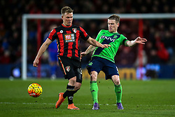 Matt Ritchie of Bournemouth tackles Steven Davis of Southampton - Mandatory by-line: Jason Brown/JMP - Mobile 07966 386802 01/03/2016 - SPORT - FOOTBALL - Bournemouth, Vitality Stadium - AFC Bournemouth v Southampton - Barclays Premier League