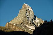 Sunrise on the Matterhorn, seen from Zermatt, Pennine Alps, Switzerland, Europe.