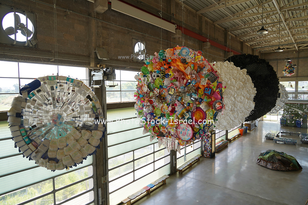 Israel, Hiriya, the recycling museum, Hiriya waste dump located southeast of Tel Aviv, Israel.
