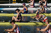 Hazewinkel, BELGIUM,  Women's Pair,  Bow, Nastashe HOWARD and Alison KNOWLES  moves away from the start pontoon in the Sunday afternoon semi final, at the GB Rowing Senior Trials, on Sun,15.04.2007  [Credit, Peter Spurrier/Intersport-images]   [Mandatory Credit, Peter Spurier/ Intersport Images]. , Rowing Course, Bloso, Hazewinkel. BELGUIM