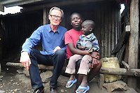 BILL WITH NANCY AND CLIFFORD IN SHAURIYAKO,( EXTREAM POVERTY)