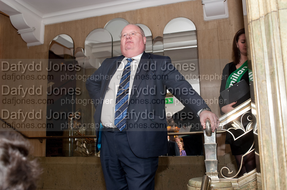 ERIC PICKLES;   House of Lords and House of Commons Parliamentary Palace of Varieties in aid of Macmillan Cancer Support. <br /> Park Lane Hotel, Piccadilly, London, 7 March 2012.