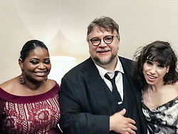 December 11, 2017 - FILE - Golden Globes 2018 Nominees - Nominated for Best Director - August 31, 2017 - Venice, California, Italy - Octavia Spencer , Sally Hawkins ,  and Guillermo del Toro Director, writer, and producer at the after party of the opening of the movie The Shape of Water at the Venice Film Festival. (Credit Image: © Armando Gallo via ZUMA Studio)