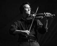 Jason Anick, violinist with the John Jorgenson quintet.  Sisters Folk Festival.  2012