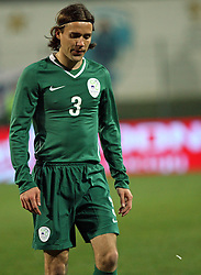 Ales Kokot of Slovenia during the UEFA Friendly match between national teams of Slovenia and Denmark at the Stadium on February 6, 2008 in Nova Gorica, Slovenia. Slovenia lost 2:1. (Photo by Vid Ponikvar / Sportal Images).