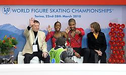 23.03.2010, Torino Palavela, Turin, ITA, ISU World Figure Skating Championships Turin 2010 im Bild Vanessa James e Yannick Bonheur (FRA), EXPA Pictures © 2010, PhotoCredit: EXPA/ InsideFoto/ Perottino / SPORTIDA PHOTO AGENCY