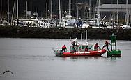 Coast Guard picking guys off buoy in Newport, Oregon
