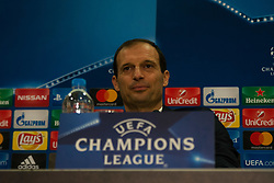 December 4, 2017 - Piraeus, Greece - Massimiliano Allegri attends a Juventus F.C press conference on the eve of their UEFA Champions League group D match against Olympiakos Piraeus at Karaiskaki Stadium  in Athens, Greece. (Credit Image: © Dimitris Lampropoulos/NurPhoto via ZUMA Press)
