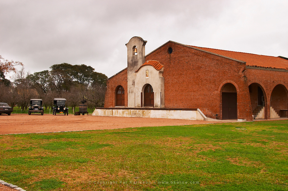 The main winery building built in colonial style Bodega Bouza Winery, Canelones, Montevideo, Uruguay, South America