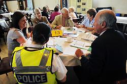 Police meet community members at an information roadshow, Bradford