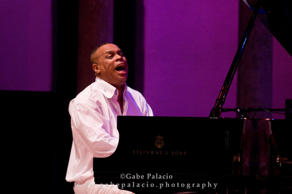 Chuchito Valdes, piano, performing in the Jazz Festival at Caramoor in Katonah New York.photo by Gabe Palacio