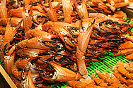 Fresh large crab legs for sale at the Liuhe Night Market ???? in Kaohsiung, Taiwan.