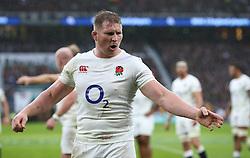 12 November 2016 Twickenham : Rugby Union International Match : England v South Africa :<br /> England captain Dylan Hartley.<br /> Photo: Mark Leech