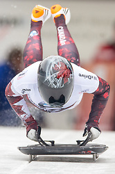 19.02.2016, Olympiaeisbahn Igls, Innsbruck, AUT, FIBT WM, Bob und Skeleton, Damen, Skeleton, 1. Lauf, im Bild Elisabeth Vathje (CAN) // Elisabeth Vathje of Canada competes during women Skeleton 1st run of FIBT Bobsleigh and Skeleton World Championships at the Olympiaeisbahn Igls in Innsbruck, Austria on 2016/02/19. EXPA Pictures © 2016, PhotoCredit: EXPA/ Johann Groder