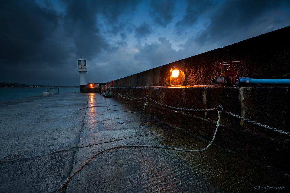 Penzance Harbour at dusk