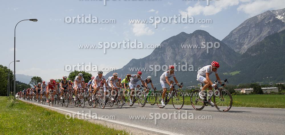 01.07.2012, Innsbruck, AUT, 64. Oesterreich Rundfahrt, 1. Etappe, EZF Innsbruck, im Bild Verfolger Feld  during the 64rd Tour of Austria, Stage 1, Individual time trial in Innsbruck, Austria on 2012/07/01