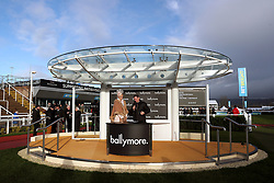 Ladies Day ambassador and Miss England Stephanie Hill (left) during the New Year's Day meeting at Cheltenham Racecourse