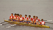 Bled, Slovenia, YUGOSLAVIA. GBR M8+,  move away at the the start of a heat of the men's eight. General view of the start area at the 1989 World Rowing Championships, Lake Bled. [Mandatory Credit. Peter Spurrier/Intersport Images] crew, Bow,  Tim FOSTER, Matthew BRITTIN, Jim WALKER, Rupert OBHOLZER, Jonny SINGFIELD, Richard PHELPS, Jonathan SEARLE, Jonathan HULLS and cox Adrian ELLISON.