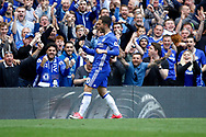 Chelsea Midfielder Eden Hazard (10) celebrates his goal (score 2-1) during the Premier League match between Chelsea and Sunderland at Stamford Bridge, London, England on 21 May 2017. Photo by Andy Walter.