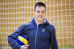 Aleš Kök during training camp of Slovenian Volleyball Men Team 1 month before FIVB Volleyball World League tournament in Ljubljana, on May 5, 2016 in Arena Vitranc, Kranjska Gora, Slovenia. Photo by Vid Ponikvar / Sportida