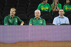 Jonas Kazlauskas, head coach of Lithuania during friendly match between National Teams of Slovenia and New Zealand before World Championship Spain 2014 on August 16, 2014 in Kaunas, Lithuania. Photo by Robertas Dackus / Sportida.com