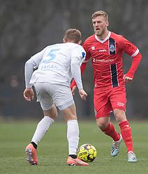 Teddy Bergqvist (FC Helsingør) under træningskampen mellem FC Roskilde og FC Helsingør den 15. februar 2020 i Roskilde Idrætspark (Foto: Claus Birch).