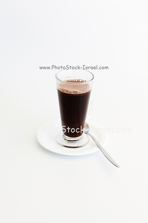 A glass of Black Coffee on white background
