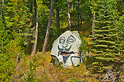 Painted rock on Lake of The Woods<br />