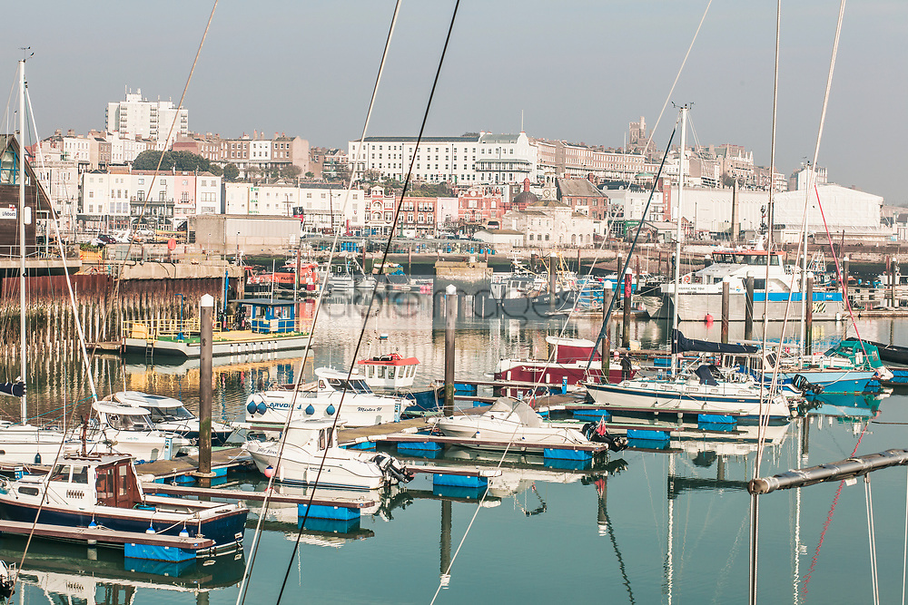 Boats in Ramsgate Harbour, Kent, United Kingdom