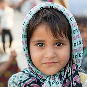 Portrait of young girl in village of Chandelao, Rajistan