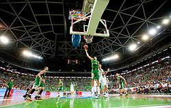 Martynas Pocius of Lithuania during friendly match before Eurobasket Lithuania 2011 between National teams of Slovenia and Lithuania, on August 24, 2011, in Arena Stozice, Ljubljana, Slovenia. Slovenia defeated Lithuania 88-66. (Photo by Vid Ponikvar / Sportida)