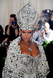 Rihanna attending the Metropolitan Museum of Art Costume Institute Benefit Gala 2018 in New York, USA