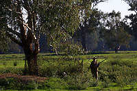 Lionel Swift. Duck hunting season opens near Howlong on the Murray River. Pic By Craig Sillitoe CSZ/The Sunday Age 10/3/2011 This photograph can be used for non commercial uses with attribution. Credit: Craig Sillitoe Photography / http://www.csillitoe.com<br /> <br /> It is protected under the Creative Commons Attribution-NonCommercial-ShareAlike 4.0 International License. To view a copy of this license, visit http://creativecommons.org/licenses/by-nc-sa/4.0/.
