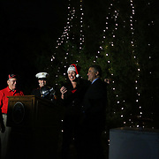 Residents gathered for the Greenfield Christmas Tree lighting at Greenfield Lake Park Thursday December 4, 2014 in Wilmington, N.C. (Jason A. Frizzelle)
