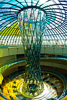Glass sculpture in one of the atriums of the Wafi City Mall (an Egptian themed mall), Dubai, United Arab Emirates