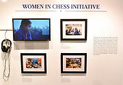 This Women In Chess Initiative display is at the World Chess Hall of Fame in St. Louis where a new chess history exhibition, US Chess: 80 Years—Promoting the Royal Game in America, opened with a free opening reception event on March 6, 2019. The chess exhibit will be on display through October 27, 2019. <br /> (Tim Vizer/AP Images for  World Chess Hall of Fame)
