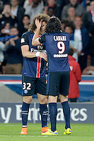 joie PSG / David Luiz / Edinson Cavani - 23.05.2015 - PSG / Reims - 38eme journee de Ligue 1<br /> Photo : Andre Ferreira / Icon Sport