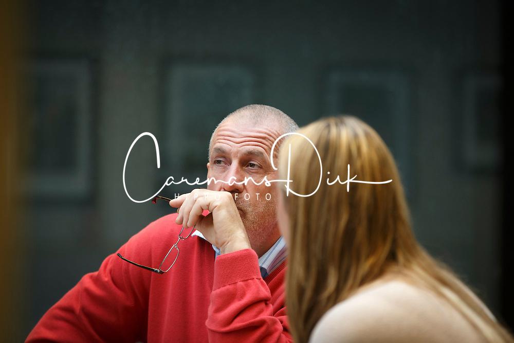 Georges Van Keerberghen (BEL), voorzitter LRV met Inge Vandael, directeur LRV<br /> LRV - Oud Heverlee 2014<br /> © Dirk Caremans