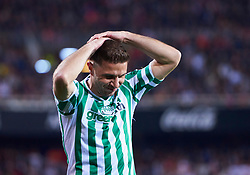 February 28, 2019 - Valencia, U.S. - VALENCIA, SPAIN - FEBRUARY 28: Joaquin Sanchez, midfielder of Real Betis Balompie reacts during the Copa del Rey match between Valencia CF and Real Betis Balompie at Mestalla stadium on February 28, 2019 in Valencia, Spain. (Photo by Carlos Sanchez Martinez/Icon Sportswire) (Credit Image: © Carlos Sanchez Martinez/Icon SMI via ZUMA Press)