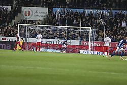 October 20, 2018 - Strasbourg, France - Thomasson Adrien,Goal the French L1 football match between Strasbourg (RCSA) and Monaco at the Meinau stadium in Strasbourg, eastern France on October 20, 2018. (Credit Image: © Elyxandro Cegarra/NurPhoto via ZUMA Press)
