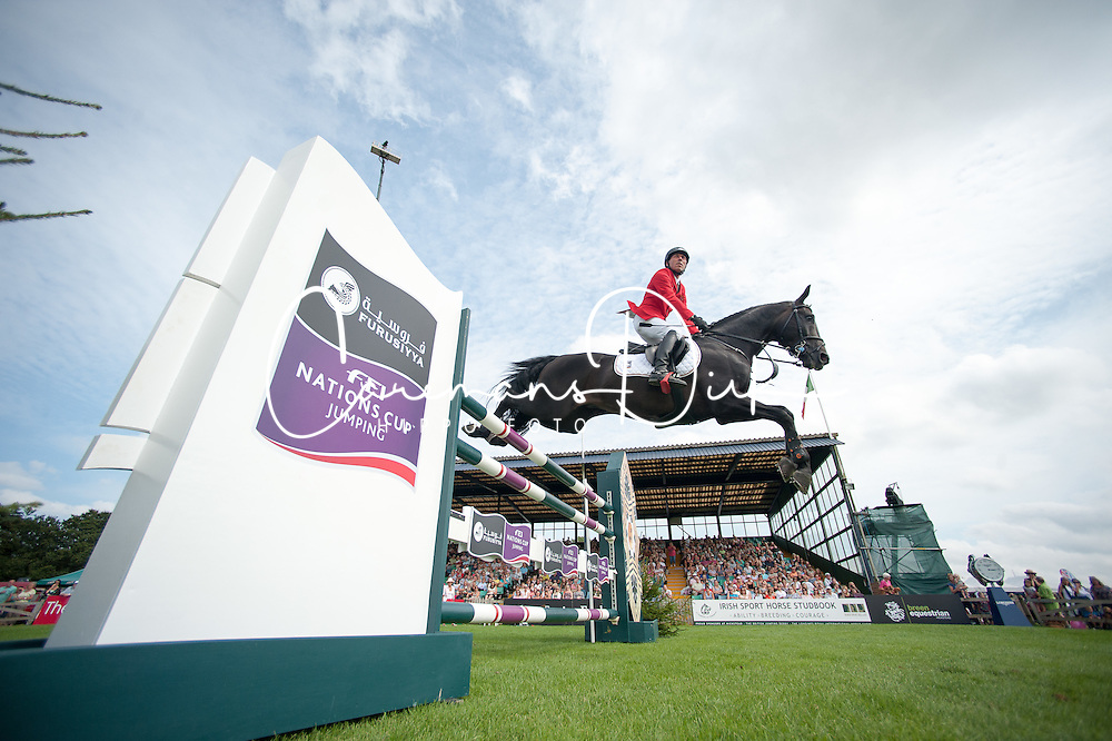 Dreher Hans Dieter (GER) - Embassy II<br /> Furusiyya FEI Nations Cup<br /> International Horse Show - Hickstead 2014<br /> © Hippo Foto - Jon Stroud