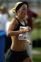Friidrett<br /> IAAF Grand Prix II - Heusden i Belgia<br /> 02.08.2003<br /> Susanne Wigene i aksjon på kvinnenes 5000 meter.<br /> <br /> Foto: Nico Vereecken, Digitalsport