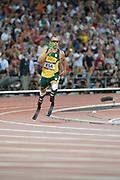 "Olympic Stadium, Stratford, London, United Kingdom<br /> Oscar Pistorius, South African sprinter, nickname ""Blade Runner,"" <br /> <br /> 2012 London Olympic, Athletics, 21:23:38  Friday  10/08/2012 [Mandatory Credit: Peter Spurrier/Intersport Images]"