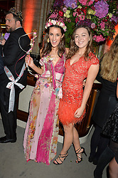 Left to right, ROSANNA FALCONER and ZENOUSKA MOWAT at the TatlerMagazine's Kings & Queens party held at Savini at Criterion, Piccadilly, London on 1st June 2016.