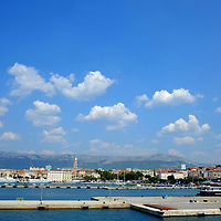 View of the harbour from the ferry;<br />Split, Croatia. 2018